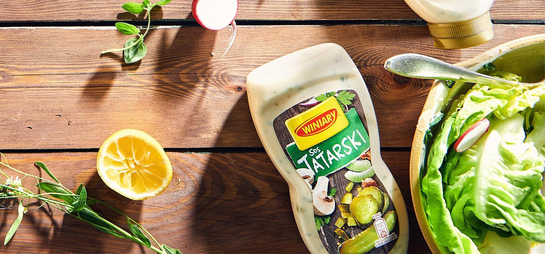 Zimne sosy w butelkach