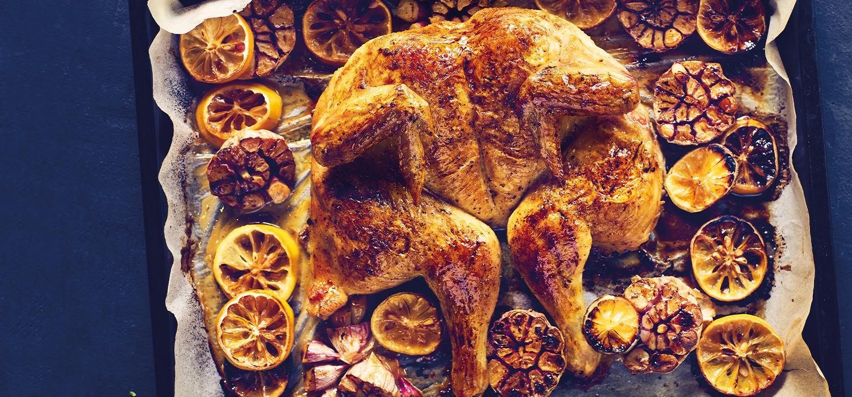 Kurczak z piekarnika w cytrynach