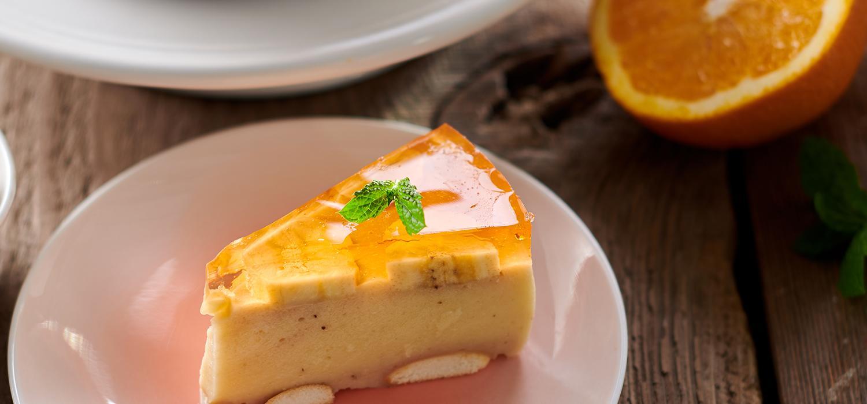 Ciasto z galaretką pomarańczową