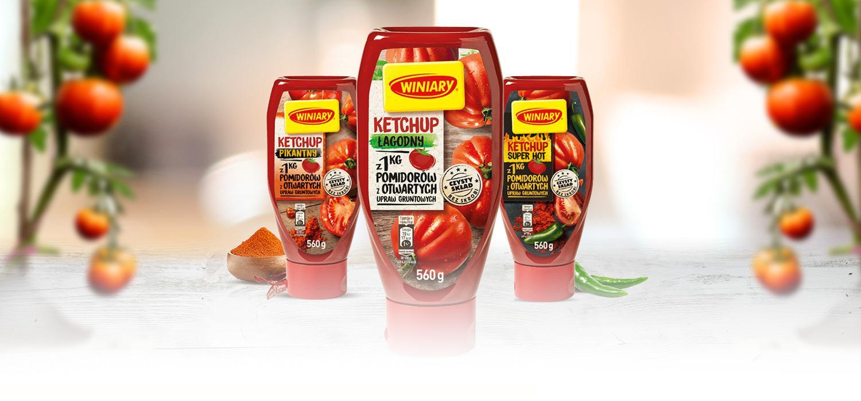 Ketchupy Winiary w 3 wariantach smakowych