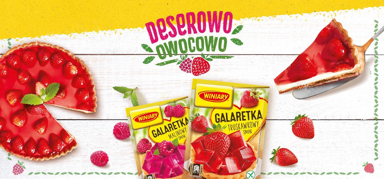 Truskawkowe desery | Galaretki Winiary