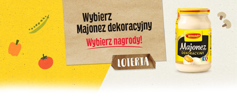 Loteria Wybierz Majonez Dekoracyjny - Wybierz Nagrody | Konkurs WINIARY