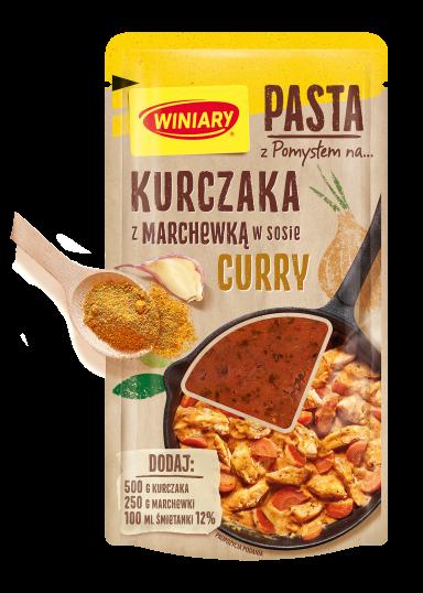 Pasta z Pomysłem na…Kurczaka z marchewką w sosie curry WINIARY