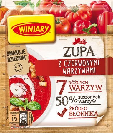 Zupa z czerwonymi warzywami WINIARY