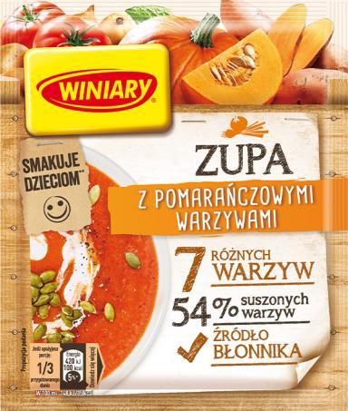 Zupa z pomarańczowymi warzywami WINIARY
