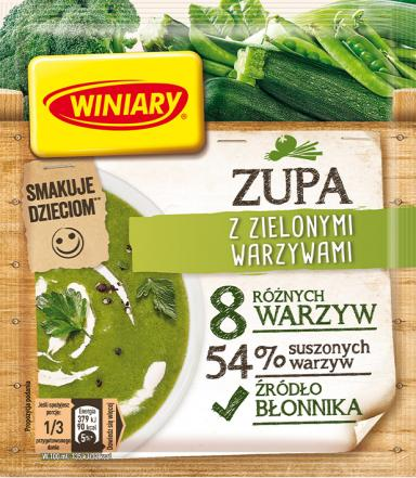 Zupa z zielonymi warzywami WINIARY